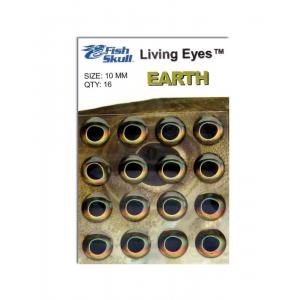 Fish Skull Living Eyes 8.5 mm Earth (Golden Brown)