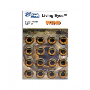 Fish Skull Living Eyes 6 mm Wind (Golden)