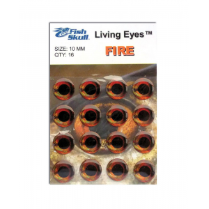 Fish Skull Living Eyes 10 mm Fire (Orange Red)