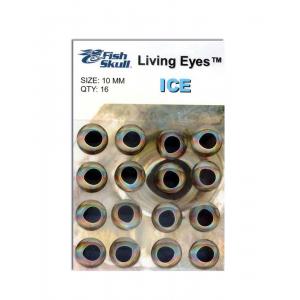 Fish Skull Living Eyes 10 mm Ice (Silver)