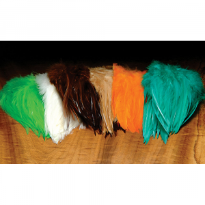 Hareline Dyed Strung Chinese Saddle Hackle Tan