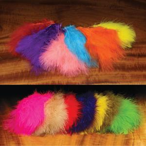 Hareline Extra Select Strung Imitation Marabou Feathers Hot Pink