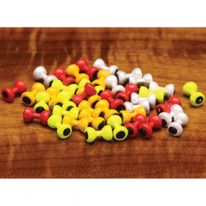 Hareline Painted Lead Dumbbell Eyes Large Chartreuse