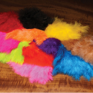 Hareline Wooly Bugger Marabou Feathers Fluorescent Hot Pink