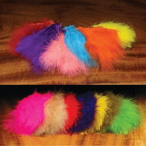Hareline Extra Select Strung Imitation Marabou Feathers Fluorescent Blue