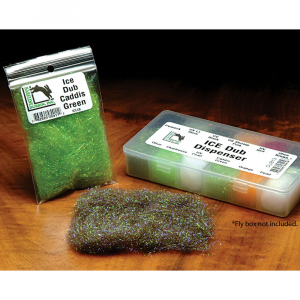 Hareline Ice Dub Fluorescent Lime Green