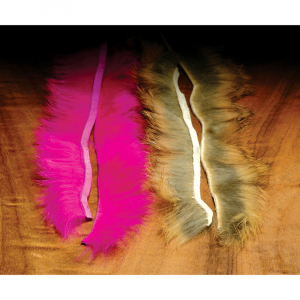 Hareline Crosscut Rabbit Strips Grizzly (Natural Hare's Ear)