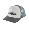 Patagonia Fitz Roy Trout Trucker Hat White w/Forge Grey
