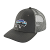Patagonia Fitz Roy Bison LoPro Trucker Hat Forge Grey w/Feather Grey