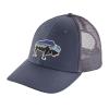 Patagonia Fitz Roy Bison LoPro Trucker Hat Dolomite Blue