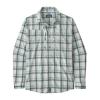 Patagonia Men's Long-Sleeved Sun Stretch Shirt Granville Big: Birch White M