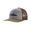 Patagonia Fitz Roy Trout Trucker Hat Drifter Grey w/Sage Khaki
