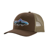 Patagonia Fitz Roy Trout Trucker Hat Bristle Brown