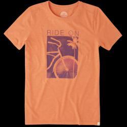 Life is Good Women's Ride On Bike Cool Tee