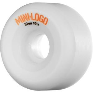 Mini Logo A-Cut White Skateboard Wheels - 51mm 101a (Set of 4)