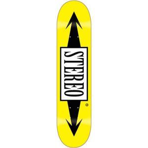 "Stereo Arrows Standard Yellow Skateboard Deck - 7.5"" x 31.25"""