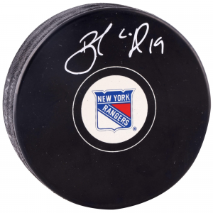 Image of Brad Richards New York Rangers Autographed Hockey Puck