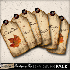 Thanksgiving Autumn Leaf Tags-(DPCraft)