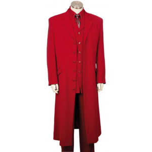 Mens Red Urban Styled Suit