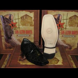 Mens Genuine Authentic Black Caiman Crocodile Dress Shoe