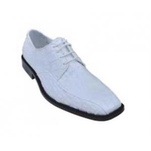 Los Altos White Genuine All-Over Smooth Crocodile Shoes