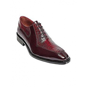 Mens Ostrich Top Shoes by Belvedere Red Shoes Dino
