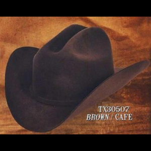f69186d19f81d Tejana Cowboy Western Hat 4X Felt Hats Brown - Carolina Runner