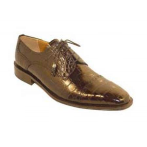Men's Genuine Alligator Shoes Chocolate