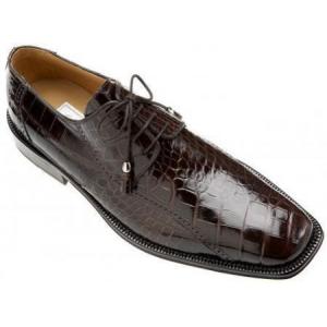 Ferrini Black Cherry All-Over Genuine Alligator Shoes