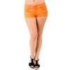 Ymi Denim Short Shorts In Hot Orange; 13