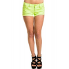 Ymi Denim Short Shorts In Neon Green; 0