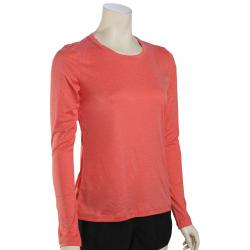 Hurley Women's Quick Dry LS Surf Shirt - Speed Red Heather - XS
