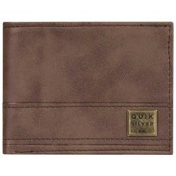 Quiksilver New Stitchy Bi-Fold Wallet - Chocolate Brown