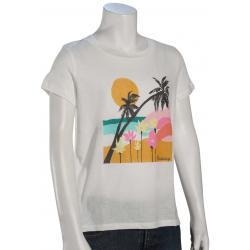 Billabong Girl's Beach Flowers T-Shirt - Salt Crystal - L