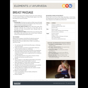 Elements of Ayurveda Handout: Breast Massage