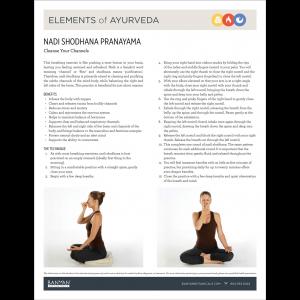 Elements of Ayurveda Handout: Nadi Shodhana Pranayama