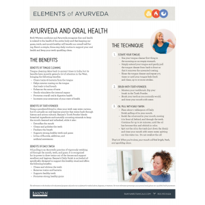 Elements of Ayurveda Handout: Tongue Cleaning & Oil Pulling