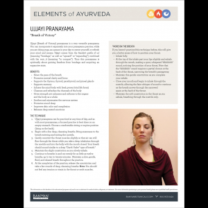 Elements of Ayurveda Handout: Ujjayi Pranayama