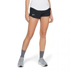 Womens Under Armour Fly By Embossed Mini Lined Shorts(S)