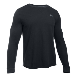 Mens Under Armour Waffle Crew Long Sleeve Technical Tops(L)
