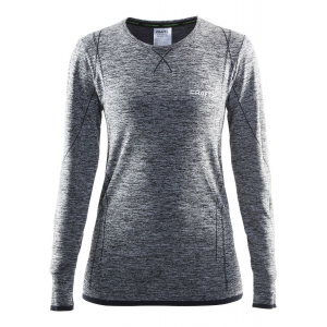 Womens Craft Roundneck Long Sleeve Technical Tops(XS)