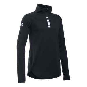 Under Armour Girls Tech 1/4 Zip Long Sleeve Technical Tops(YS)