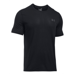 Mens Under Armour Threadborne Emboss Short Sleeve Technical Tops(L)