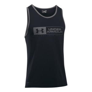 Mens Under Armour Bar Lockup Sleeveless & Tank Tops Technical Tops(XL)