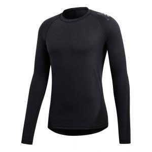 Mens adidas Alphaskin Sport T-Shirt Long Sleeve Technical Tops(L)