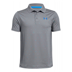Under Armour Boys UA Performance Polo Novelty Short Sleeve Technical Tops(YL)