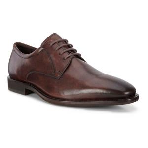 Mens Ecco Calcan Plain Toe Tie Casual Shoe(6.5)