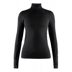 Womens Craft Fuseknit Comfort Zip Long Sleeve Technical Tops(M)
