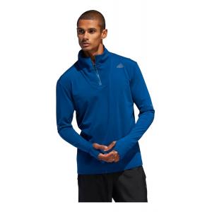 Mens Adidas Supernova 1/4 Zip Tee Half-Zips & Hoodies Technical Tops(M)