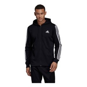 Mens Adidas Must Haves 3-Stripe Fullzip Hoodie French Terry Half-Zips & Hoodies Technical Tops(L)